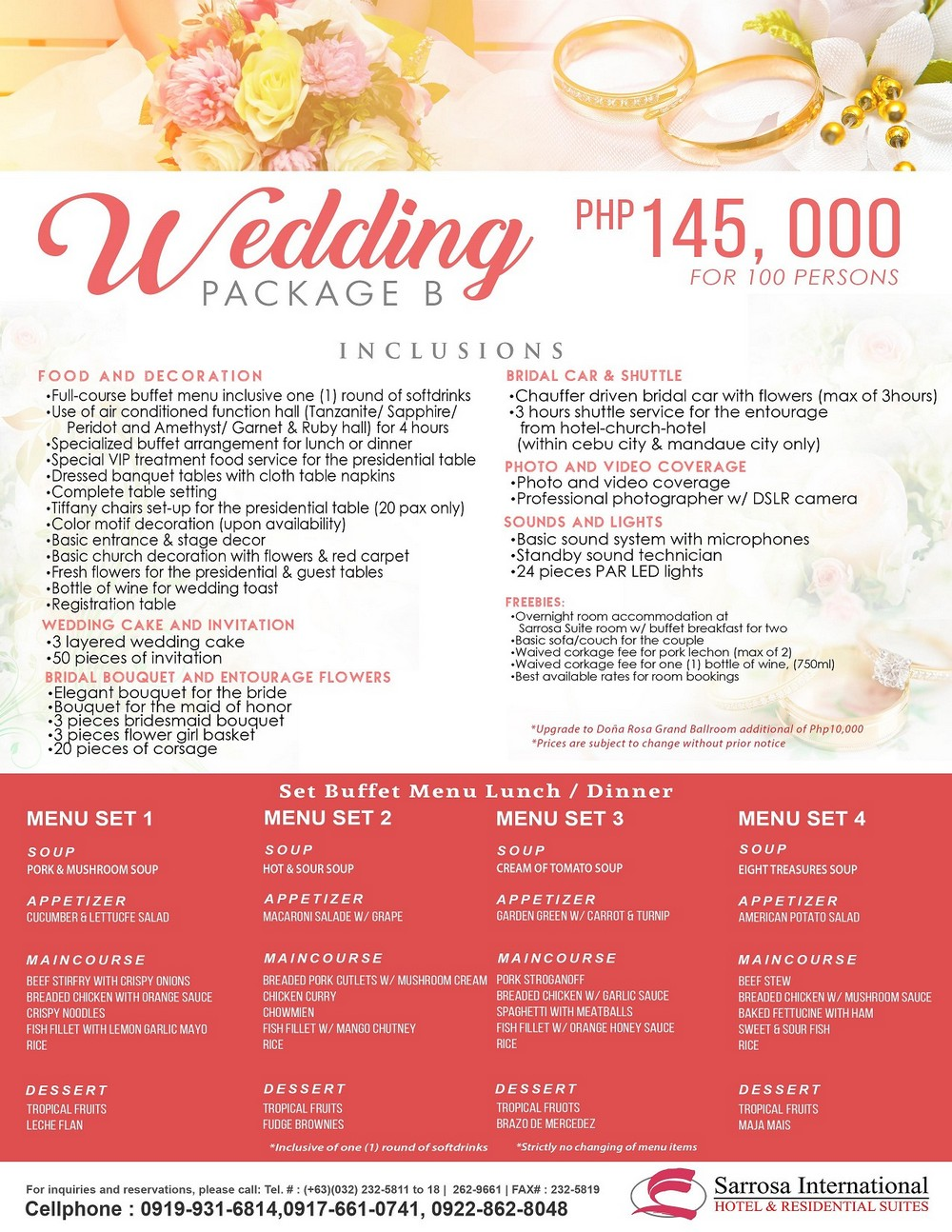 Wedding and Reception Packages in Cebu City
