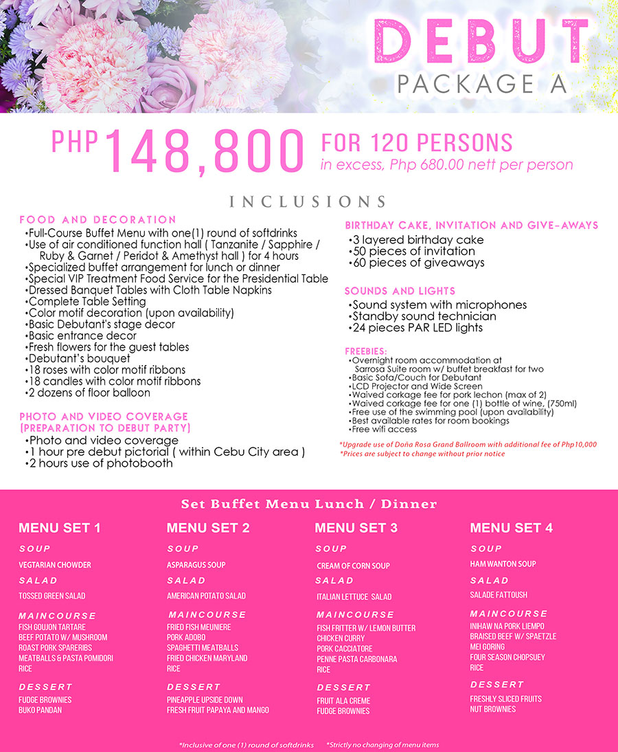 debut package cebu A